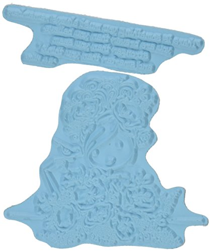 Stamping Bella EB282 Uptown Girl Fiona Loves Flowers Cling Rubber Stamp, 6.5