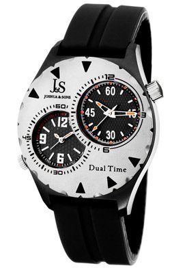 Joshua And Sons Black Carbon Fiber Pattern Mens Watch JS-33-01