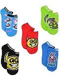 Fortnite Big Show Low Cut Socks, 5 Pair Pack, Multi, 9-11 Boys (Shoe 4-10)