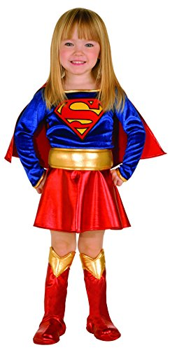 [Super DC Heroes Supergirl Toddler Costume, (Size 2-4)] (Cool Halloween Costumes For Three Girls)
