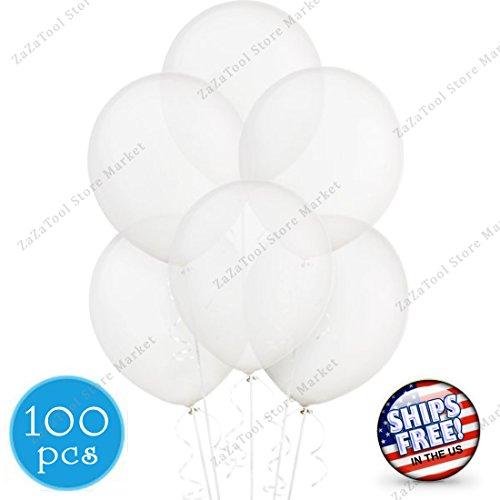 ZaZaTool - 100pcs Party Crystal Clear Latex Balloons Engagement Wedding Anniversary Decor