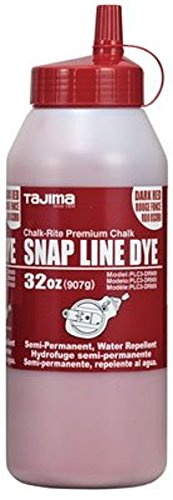 Tajima Marking Chalk - Red (2-Pack) - 32 Ounce Chalk-Rite Semi Permanent Dye with Durable Bottle and Easy Fill Nozzle - PLC3-DR900 by Tajima