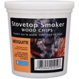 Mesquite Wood Smoker Chips- 100% Natural, Fine Wood Smoker and Barbecue Chips- 1 Pint