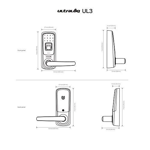 3 Pack Ultraloq UL3 Fingerprint and Touchscreen Keyless Smart Lever Door Lock (Aged Bronze) by Ultraloq (Image #3)