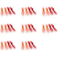 8 x Quantity of Revell QG 550 Mini Quadrocopter Transparent Clear Orange and Red Propeller Blades Props Rotor Set 55mm Factory Units