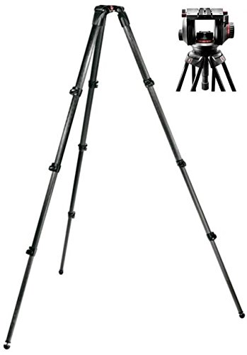 Manfrotto 509HD Video Head with 536 Carbon Fiber Tripod Legs by Manfrotto