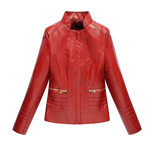 XL_nspiyi Motorcycle leather ladies short jacket