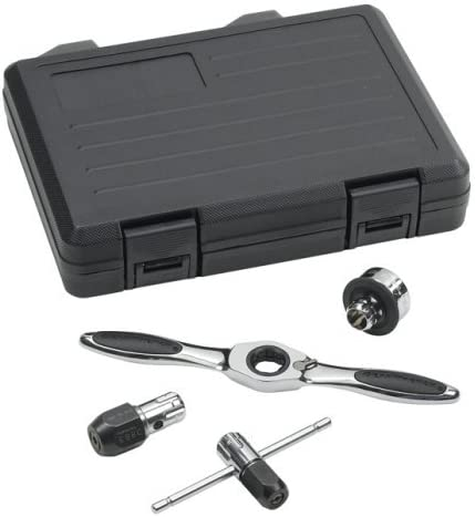 Renewed GEARWRENCH 3880 Tap and Die Ratcheting Wrench 5 Piece Drive Tool Set