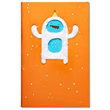 Carlton Cards Funny Yeti Birthday Card with Foil