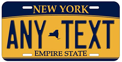 Top Craft Case Custom Personalized New York State License Plate Any Text or Name Novelty Auto Car - Plate Custom New York