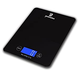 Digital Touch Multifunction Kitchen Food Scale for Precise Weighing in Grams, Ounces, Pounds, Fluid Oz, Milliliters Measures up to 11lb/5kg Best Gift for Weight Watchers (Black) 41HQekd7ucL