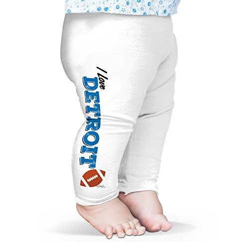 Twisted Envy Baby I Love Detroit American Football Leggings Trousers 12 - 18 Months White