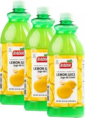 Badia Lemon Juice 32 oz Pack of 3