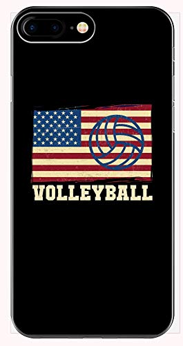 (Volleyball Phone Case for iPhone 6+, 6S+, 7+, 8+ - American Flag)