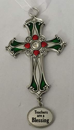 Giftamillion Beautiful Cross Ornament Teachers are Blessings by Ganz
