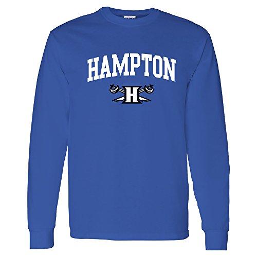 AL03 - Hampton Pirates Arch Logo Long Sleeve - Large - Royal
