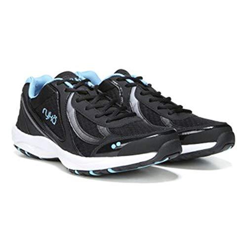 Black Shoes Ryka - Ryka Women's Dash 3 Walking Shoe, Black/Meteorite/nc Blue, 8 W US
