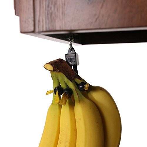 Unique Banana Holder by Banana Bungee|Easy to Use Banana Hanger, Leading Banana Hook Alternative, Most Effective Fruit Storage Since the Banana Tree, 4 Cord Lock Design, Hang Anywhere (Banana Tree Basket Fruit)