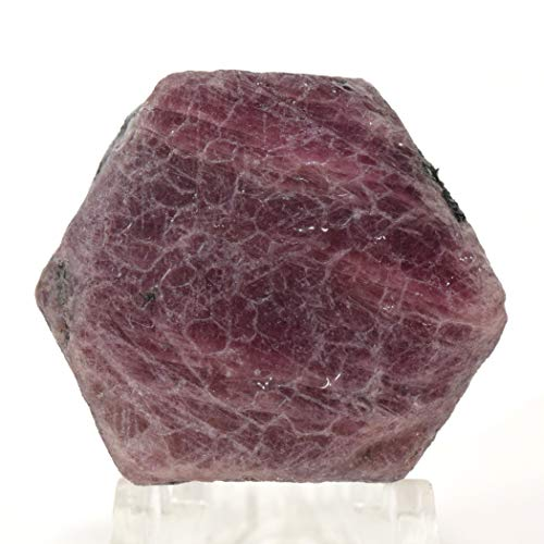 - 235 Carat Red Corundum Stone Specimen Natural Red Ruby Mineral Gemstone Sparkling Crystal Cab Rock for Carving - Madagascar
