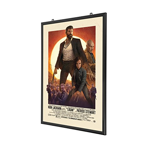 SnapeZo Double-Sided Movie Poster Frame 27x40 Inches, Black