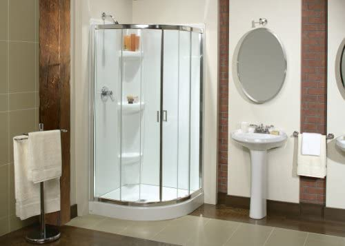 Maax 137210-900-084-000 Chrome Clear Glass Intuition Intuition Corner Bypass Shower Door 36 W x 36 L x 70 H 137210