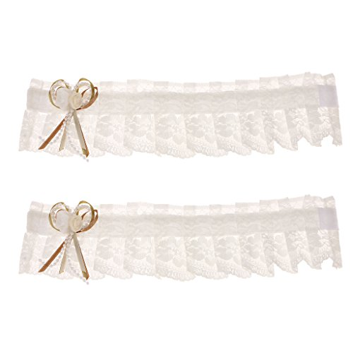(MonkeyJack Lace Curtain Buckle Tie Back Sunblind Holder Clips European Style Home Decor - White, One Size )