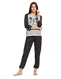 Disney Mickey & Minnie Women's 2-Piece Pajama Sets | Long Sleeve Top & PJ Pants