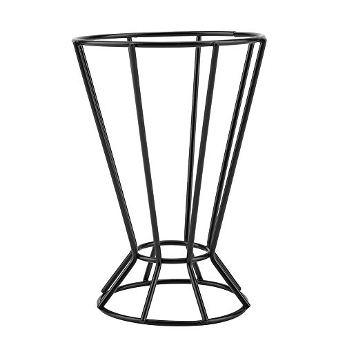 Metal Air Plants Holder Irregular Wall Mount Hanging Holder Rack Octagonal Geometric Tower Shaped Potted Plant Stand(Black) ()
