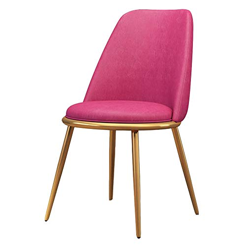 Dining Chairs LIUNA Washable Leatherette PU Cushion Side Chairs for Kitchen, Office Chair Breakfast, Bedroom, Living Room (Color : Red) Director Leatherette Office Chair