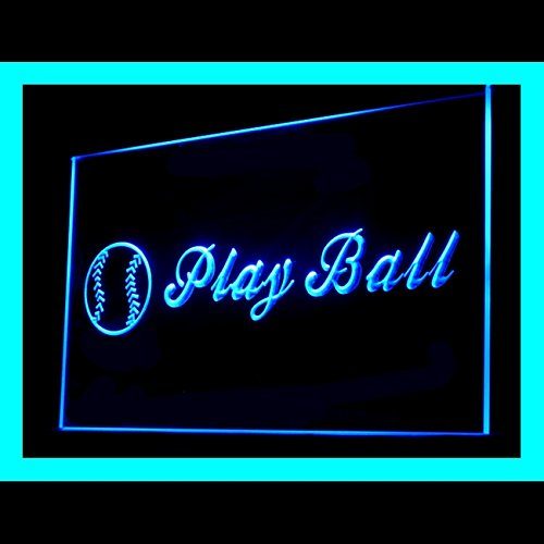 Champions League Goals - Baseball Play Ball Homer Vintage Goal Champion League LED Light Sign 230102 Color Blue