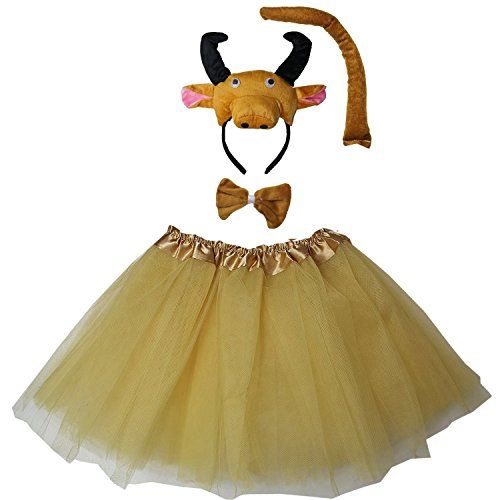 Kirei Sui Kids Costume Tutu Set Gold -