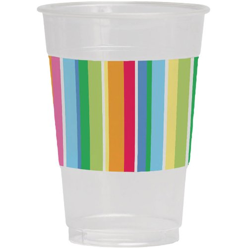 Creative Converting 8 Count Plastic Beverage Cups, 16-Ounce, Lazy Days