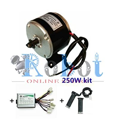 24V Motor My1016 250W Motor Controller And Twist Throttle, Diy Electric Bicycle Kit Electrical Vehicles at amazon