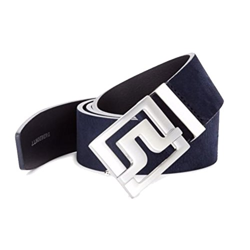 J.Lindeberg Men's Golf Belts (Slater 40 Brushed Leather Belt, JL Navy, 36inch (Slater Leather)
