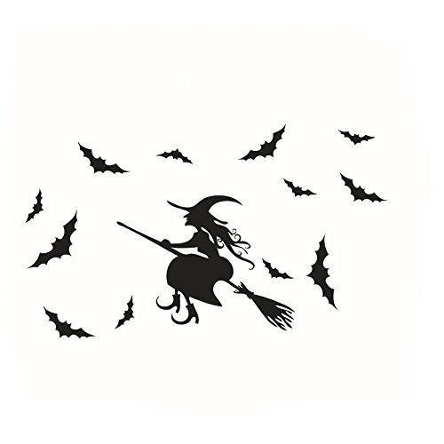 Georgie Porgy Halloween Wall Sticker Window Art Craft Wall Paper Mural Room Decoration Witch -