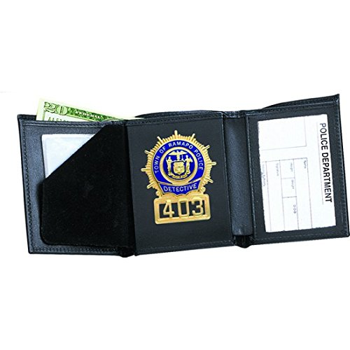 Tri Fold Badge Wallet Oval