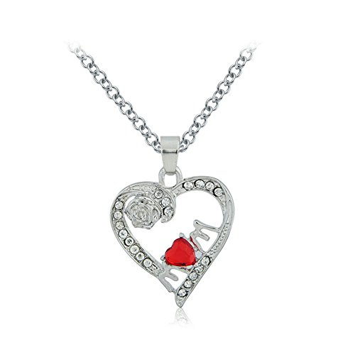 Crystal Pendant Necklace Jewelry Silver