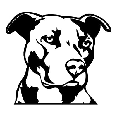 Ranger Products Pitbull Head Vinyl Decal Car Window Wall Laptop Sticker, Die Cut Vinyl Decal for Windows, Cars, Trucks, Tool Boxes, laptops, MacBook - virtually Any Hard, Smooth Surface: Automotive