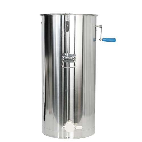 (VIVO 2 Frame Stainless Steel Manual Crank Bee Honey Extractor | SS Honeycomb Spinner Drum (BEE-V002C))