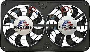 Flex-a-lite 410 Lo-Profile S-Blade Dual Electric Puller Fan