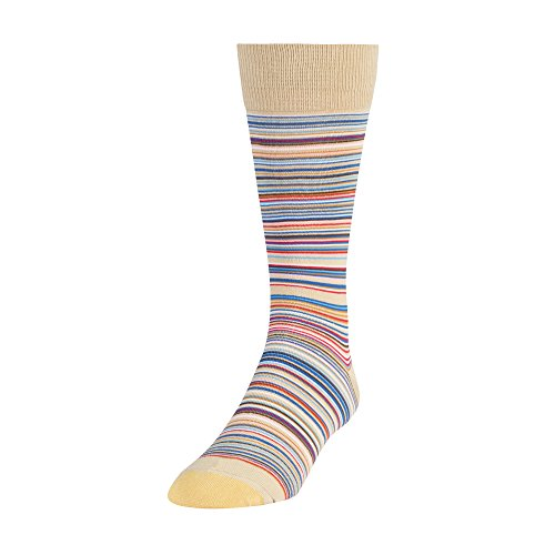 Gold Toe Men's Patterned Fashion Dress Crew Socks, 1 Pair, Frankie stripe, Shoe Size: 6-12.5