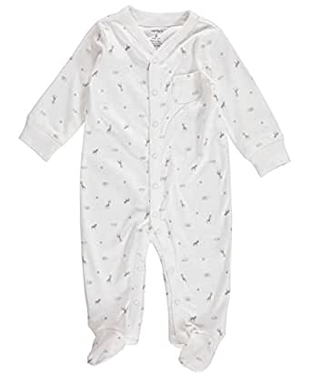 Carter's Unisex Baby Cotton Zip-up Sleep & Play (6 Months, Ivory)