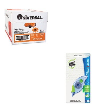 KITPAP660415UNV21200 - Value Kit - Paper Mate Liquid Paper DryLine Grip Correction Tape (PAP660415) and Universal Copy Paper (UNV21200)