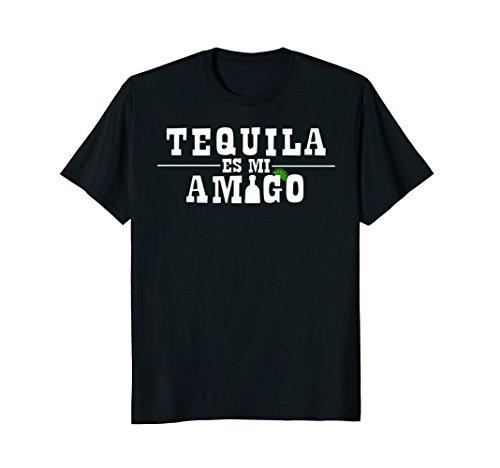 Mens Cinco De Mayo Tequila Es Mi Amigo Funny Drinking T-Shirt XL Black