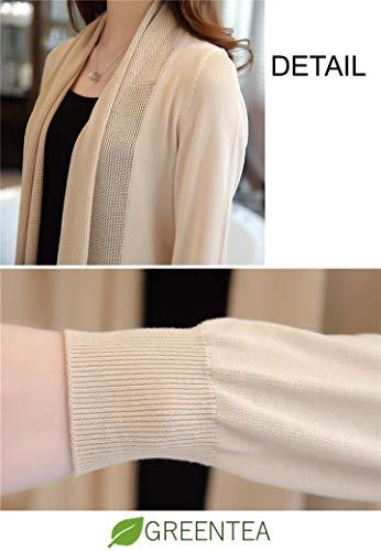 [グリーンティー] カーディガン ロング 薄手 長袖 羽織り レディース