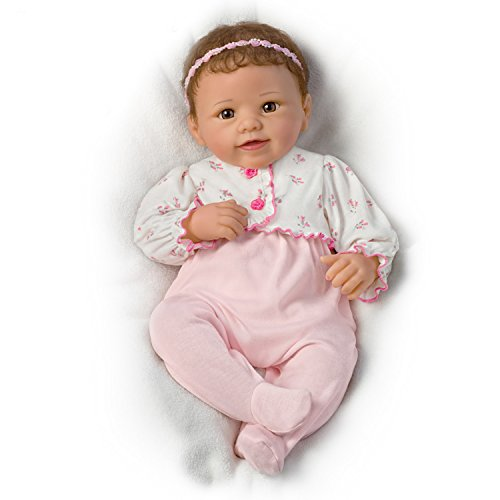Sadie Breathes, Coos and has a Heartbeat - So Truly Real® Lifelike, Interactive & Realistic Weighted Newborn Baby Doll 19-inches  by The Ashton-Drake ()