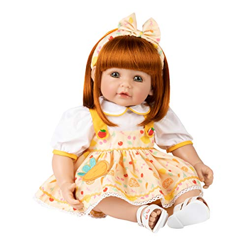 Adora Realistic Baby Doll ToddlerTime Organic Foodie, 20 inch with Weighted Body, Red Hair/Green Eyes Made in CuddleMe Vinyl
