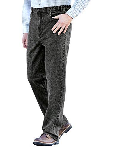 Negro Hombres Elástico Algodón Jeans Cintura Stonewash Pegasus Elástica zqP4R