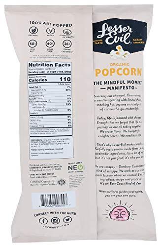 LesserEvil, Organic Popcorn, Himalayan Gold, 5 Ounce
