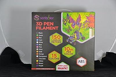 Scribbler 3D Pen Plastic Filament Refills Different Colors